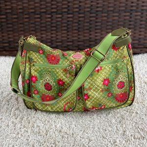 Oilily Floral Shoulder Bag Purse Cargo Pockets EUC